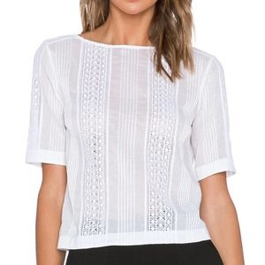 Theory White Multi-Striped Knit Top